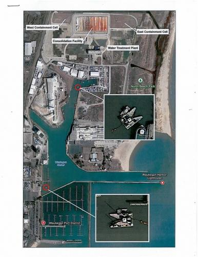 Aerial of dredging activity 2013